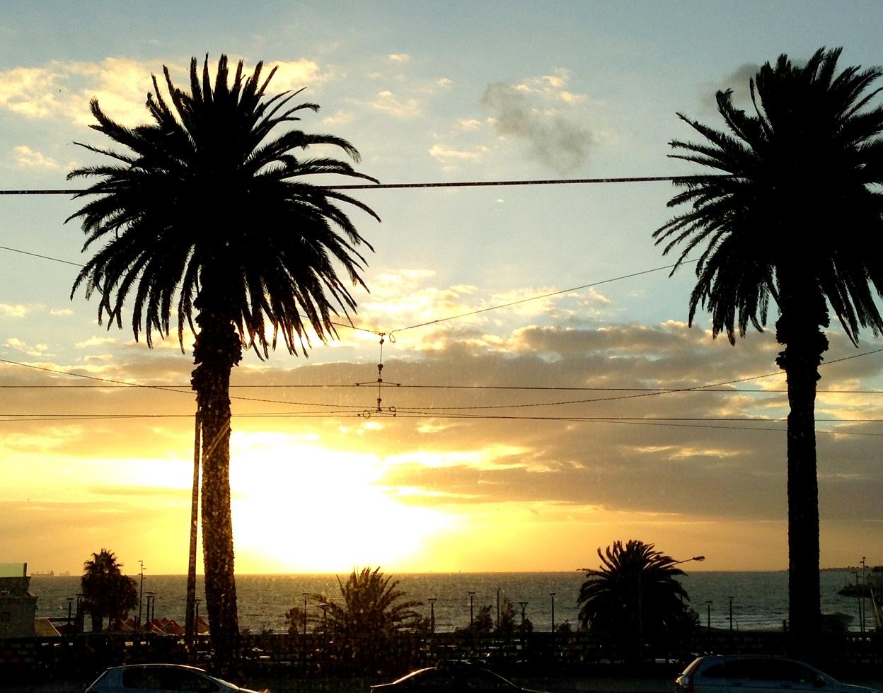 Sonnenuntergang in St Kilda in Melbourne