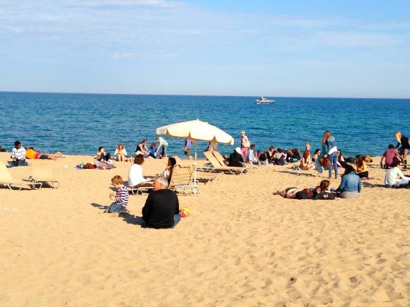 Strand von Barceloneta (Reiseblog und Foodblog Travel on Toast)