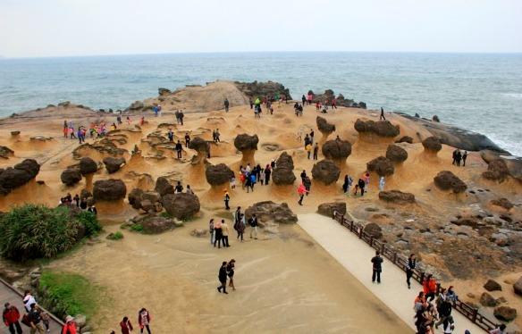 Felsen in Pilzform in Taiwan