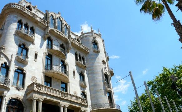 Schöne Häuser in Barcelona