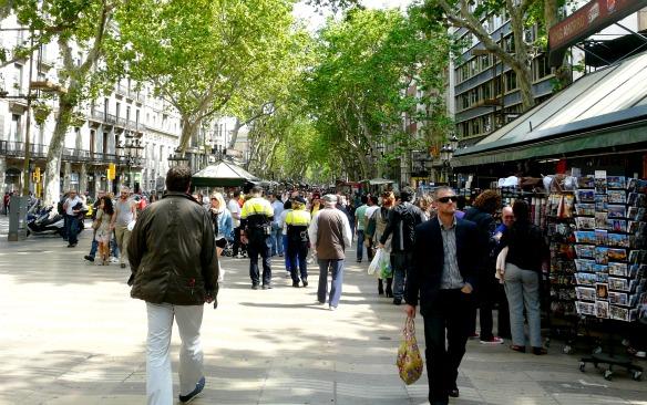 Die Ramblas in Barcelona