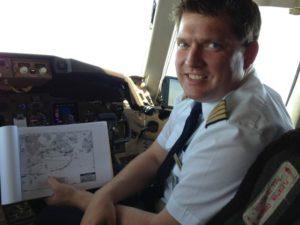 Im Cockpit beim Flug nach Mexiko