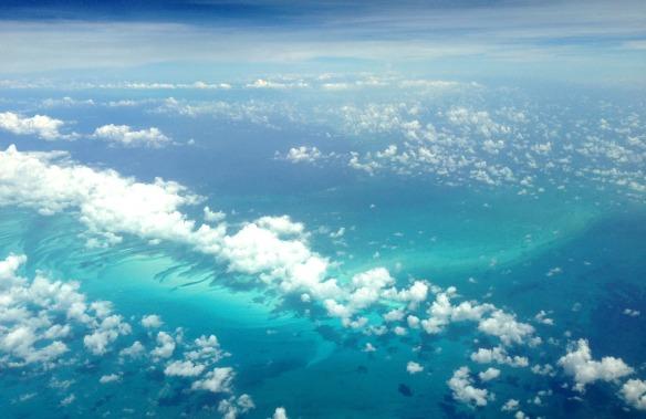 Wolkenmeer nach dem Cockpit Besuch