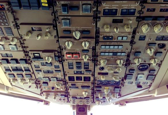 Im Flugzeug Cockpit