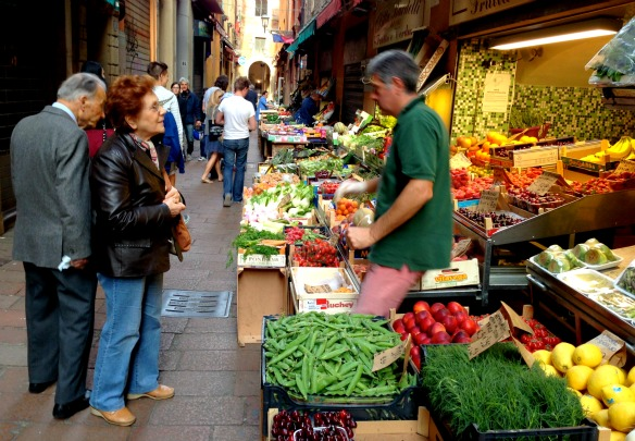 Alter Stadtmarkt Quadrilatero in Bologna