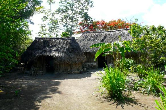 Mexiko - Unterkunft einer Maya-Familie