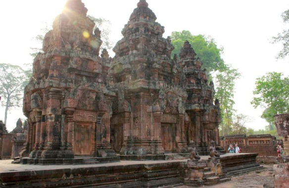 Banteay Srei in Kambodscha