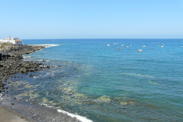 Schwarzer Strand auf Teneriffa