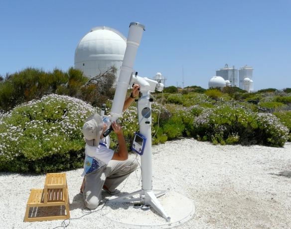 Solarteleskop auf Teneriffa