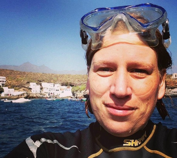 Teneriffa - Reiseblogger Anja Beckmann beim Tauchen
