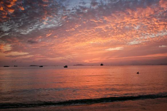 Sonnenuntergang auf Hainan