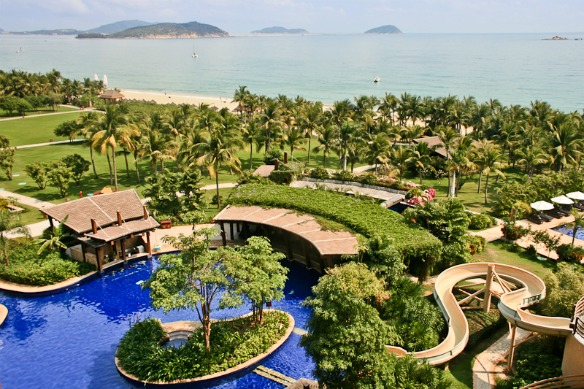 Hainan - Hotel am Meer