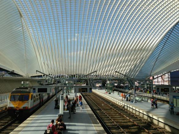 Mit dem Zug nach Belgien