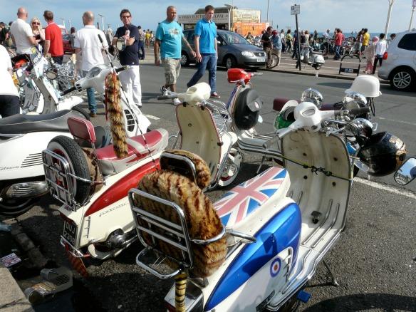 Motorroller in Brighton