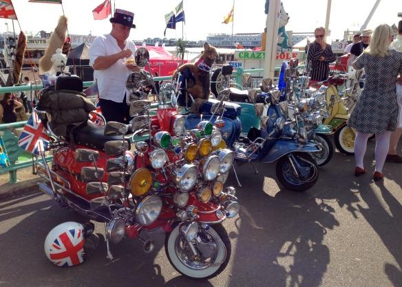 Rollerfahrer in Brighton