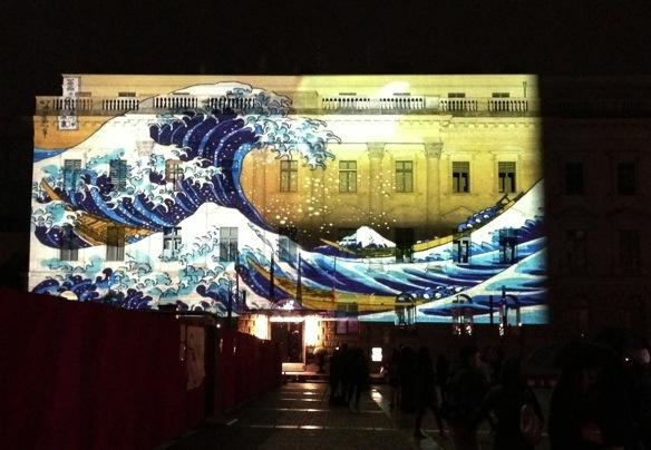 Festival of Lights mit bunten Häusern