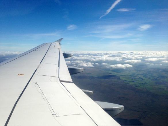 Flug nach Schottland