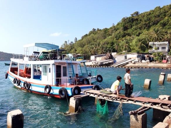 Boot bei Phu Quoc in Vietnam