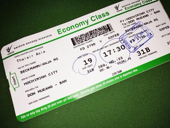 Flug mit Air Asia