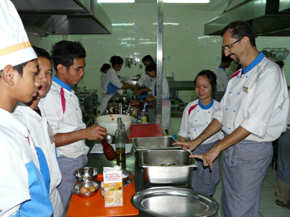 Küche der Don Bosco Hotel School