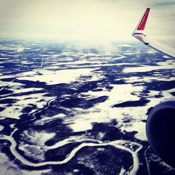 Flug in Finnland