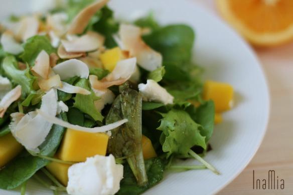 Exotischer Salat mit Orangen-Dressing