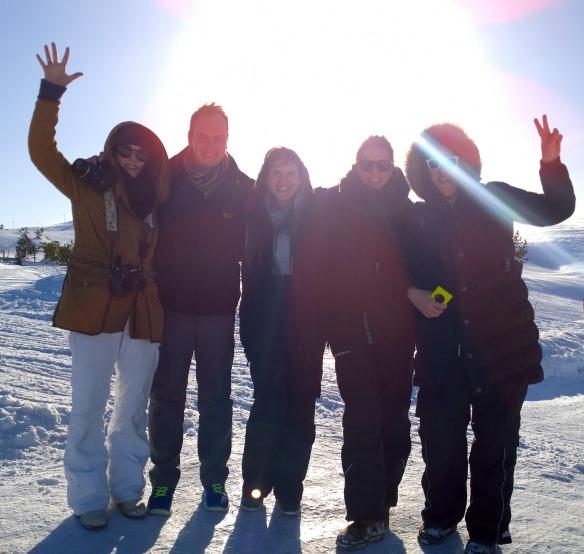 Nokia - Reiseblogger Anja Beckmann (rechts) in Lappland