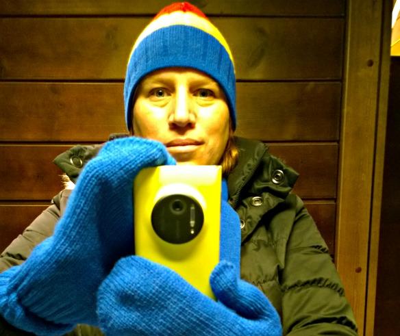 Reiseblogger Anja Beckmann testet das Nokia Lumia 2010 in Lappland