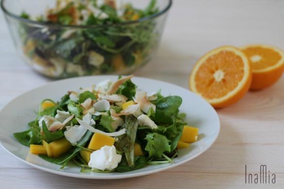 Salat mit Orangen-Kaffee-Dressing