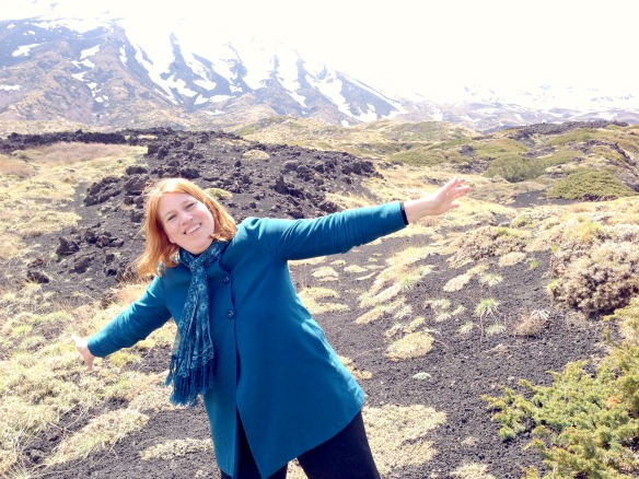 Reiseblogger Anja Beckmann auf dem Ätna