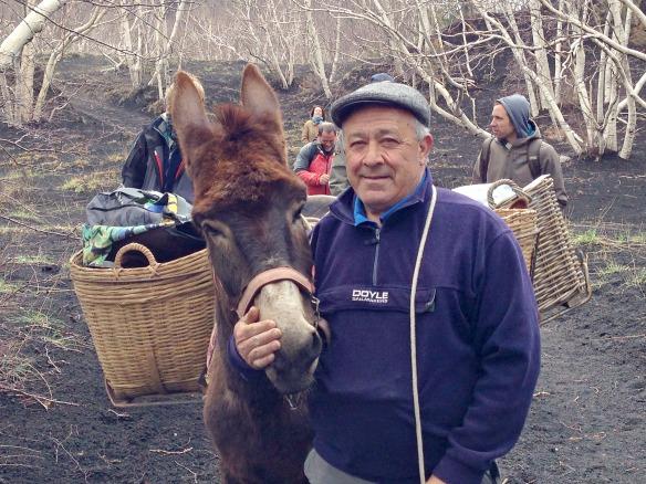 Ätna Tour mit Esel