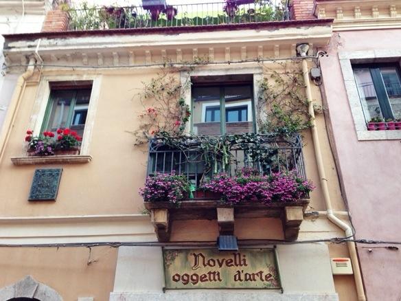 Haus in Taormina auf Sizilien
