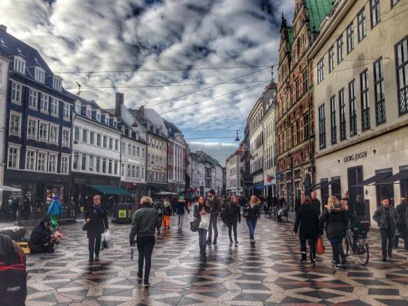 Einkaufsstrasse in Kopenhagen