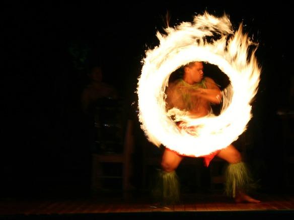 Samoa Urlaub mit Feuertanz