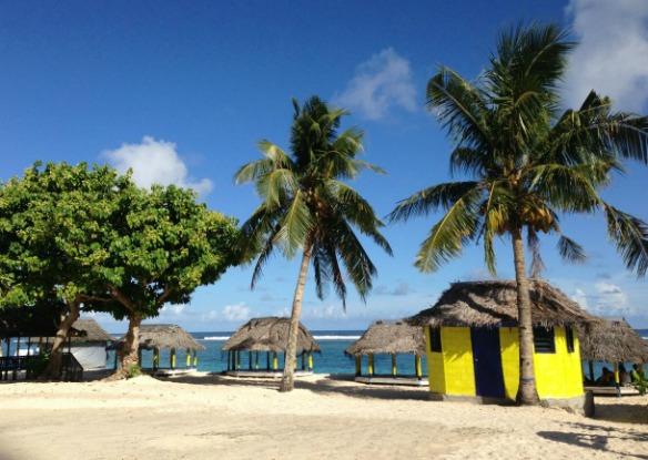 Samoa Urlaub mit Strandhütten