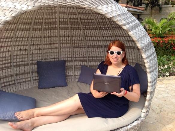 Reiseblogger Anja Beckmann mit ASUS