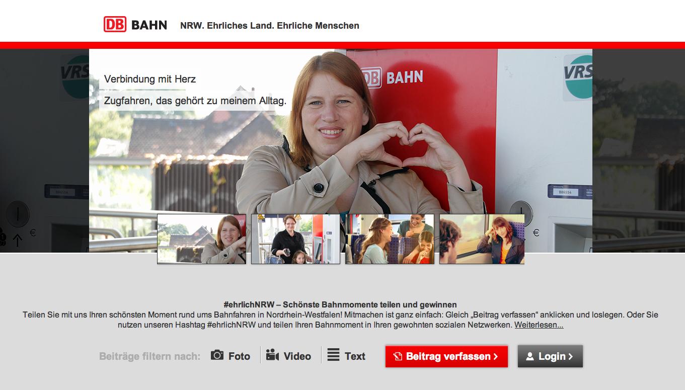 Blog Ehrlich NRW Kampagne DB Regio NRW