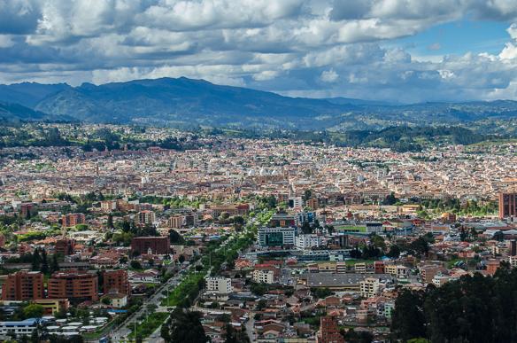 Blick auf Cuenca in Ecuador