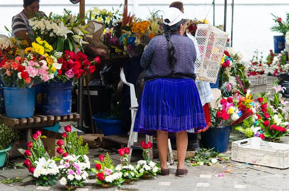 Ecuador - Mercado de las Flores in Cuenca