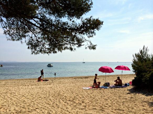 Am Strand an der Cote d'Azur