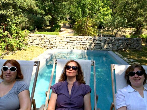 Drei Reiseblogger in der Provence - Anja Beckmann links