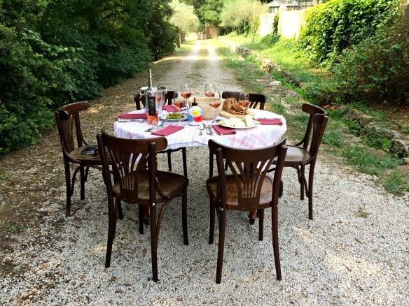 Mittagessen in der Provence