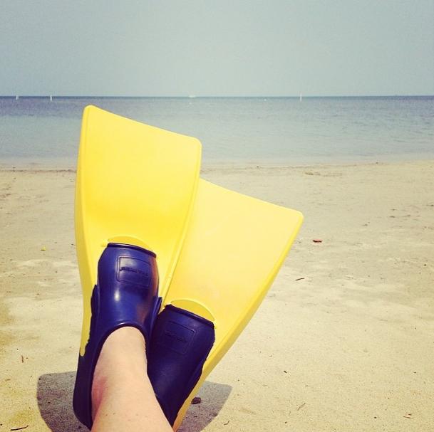 Reiseblogger Anja Beckmann beim Schnorcheln