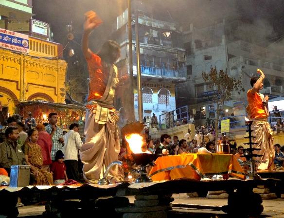 Indien - Varanasi - Ganga Aarti
