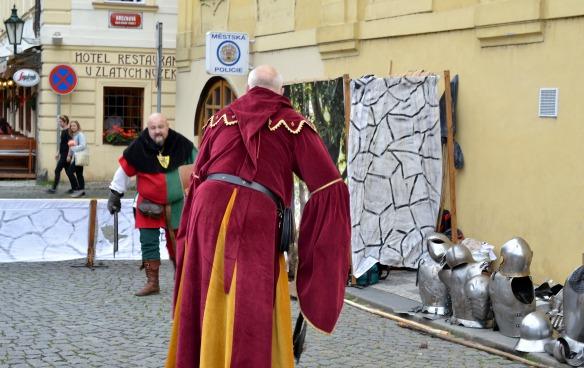 Foto 14a - Ritter üben für ihr Turnier in Prag