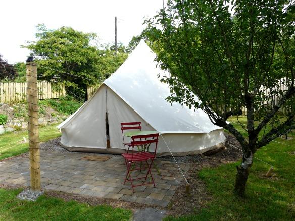 Glamping in Irland - unser Zelt