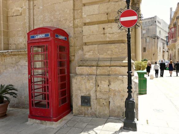 Mdina in Malta - Telefonzelle
