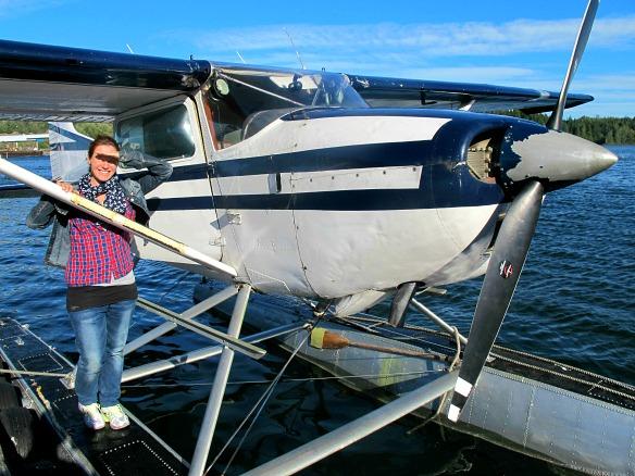 10 Kanada - Reiseblogger als Wasserflugzeug Copilot
