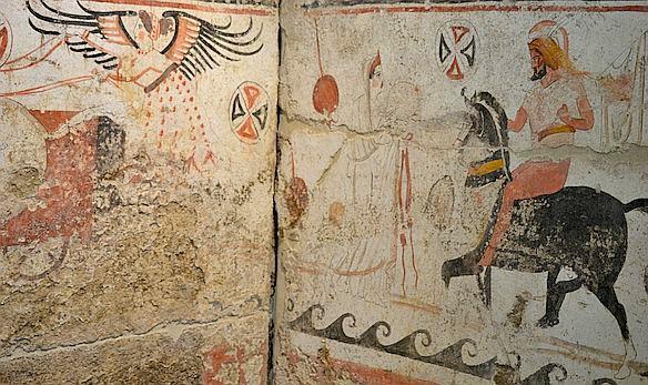 Foto-P9-1-Wandmalerien-im-Museum-von-Paestum