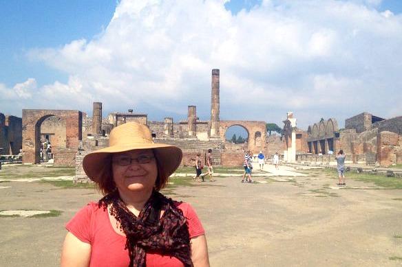 Reiseblogger in Pompeji